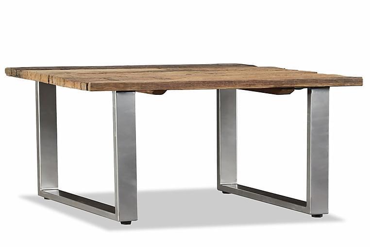 Sofabord I Massivt Genanvendt Svelletræ 55 X 55 X 40 Cm - Brun - Møbler - Borde - Sofaborde