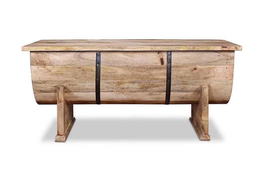 Sofabord I Massivt Mangotræ 88 X 50 X 40 Cm - Brun - Møbler - Borde - Sofaborde