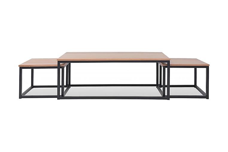 Sofabordssæt 3 Dele Asketræ - Brun - Møbler - Borde - Sofaborde