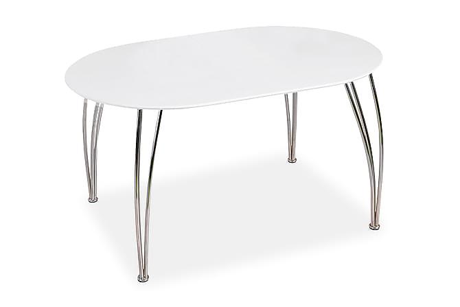 Ayan Udvideligt Spisebord 140 cm Oval - Hvid - Møbler - Borde - Spisebord og køkkenbord