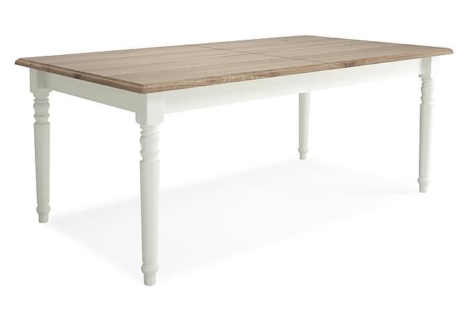 Caysa Udvideligt Spisebord 180 cm - Ekfanér/Hvid - Møbler - Borde - Spisebord og køkkenbord