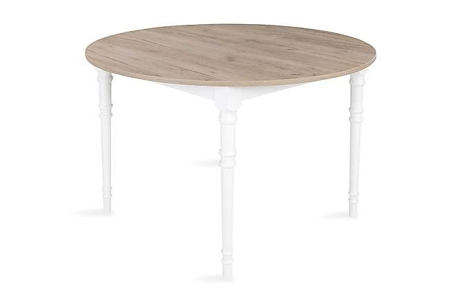 Erin Udvideligt Spisebord 115 cm Rund - Grå/Hvid - Møbler - Borde - Spisebord og køkkenbord