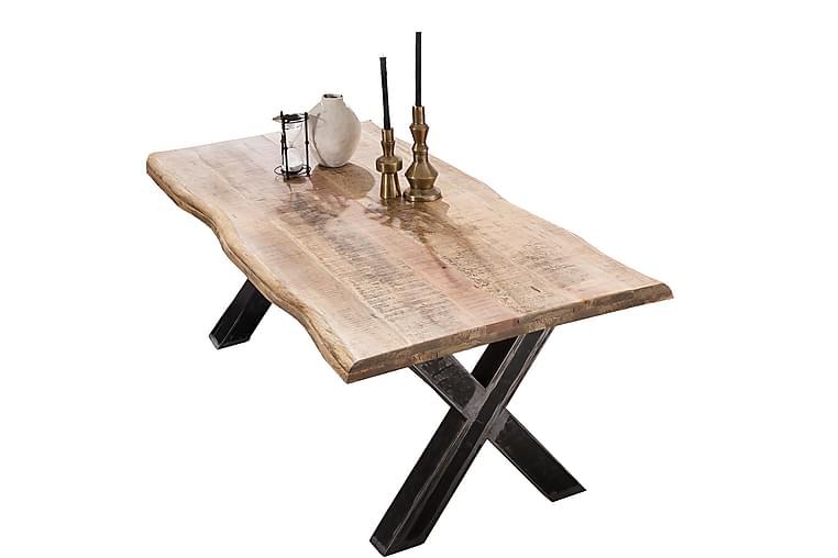 Laikera Spisebord 160x90 cm - Mango/Natur/Sølv - Møbler - Borde - Spisebord og køkkenbord