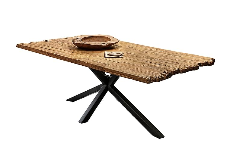 Laikera Spisebord 180x100 cm - Eg/Sort - Møbler - Borde - Spisebord og køkkenbord