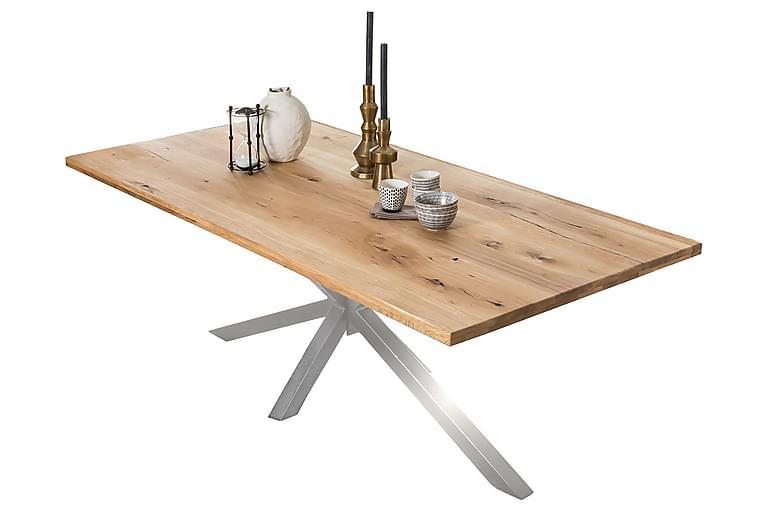 Laikera Spisebord 200x100 cm - Eg/Sølv - Møbler - Borde - Spisebord og køkkenbord