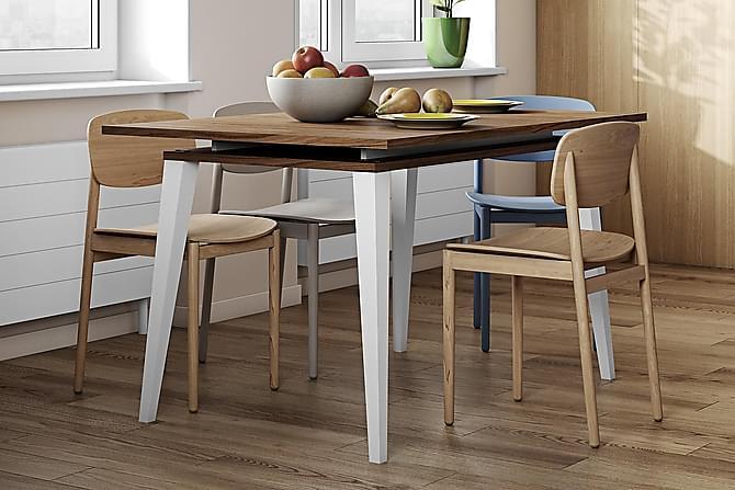 Luminet Udvideligt Spisebord 134 cm - Valnød/Hvid - Møbler - Borde - Spisebord og køkkenbord