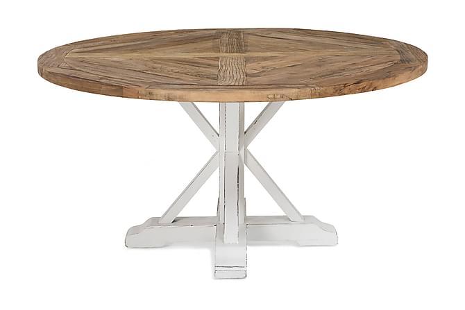 Lyon Spisebord 150 cm Rund - Vintage Natur/Hvid - Møbler - Borde - Spisebord og køkkenbord
