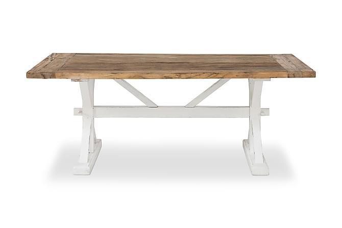 Lyon Udvideligt Spisebord 200 cm - Vintage Natur/Hvid - Møbler - Borde - Spisebord og køkkenbord