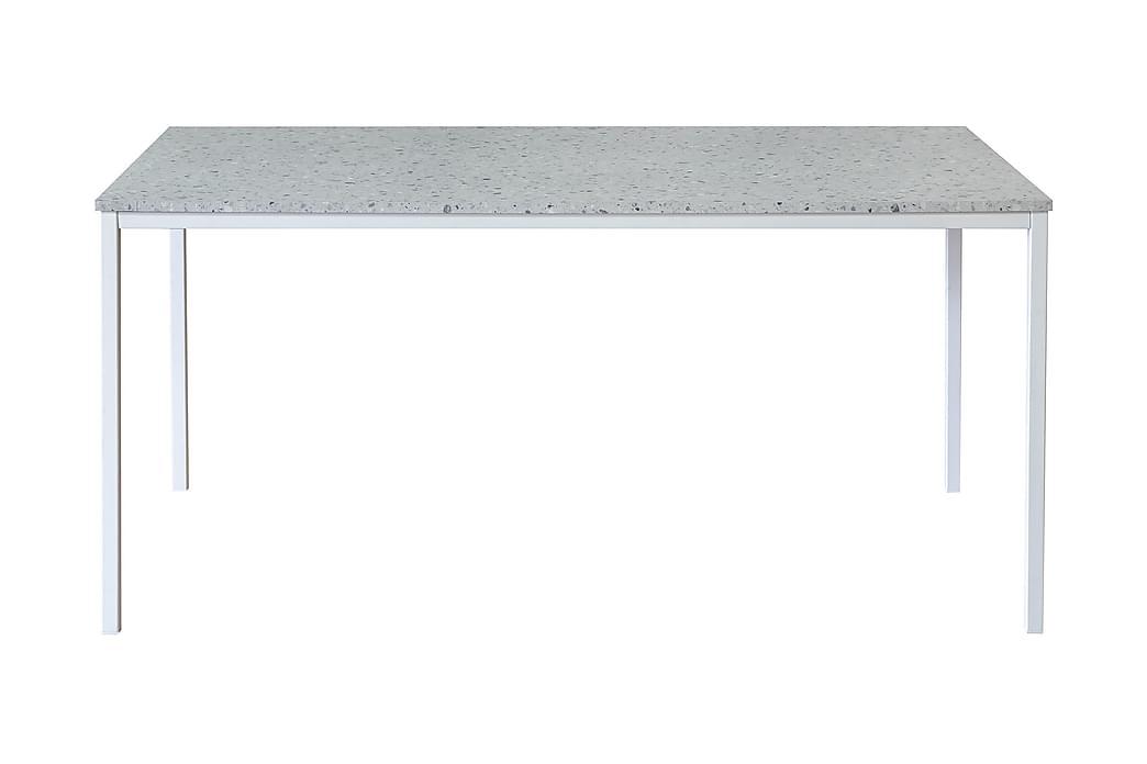 Noomi Spisebord 158 cm - Lysegrå Terrazzo/Hvid - Møbler - Borde - Spisebord og køkkenbord
