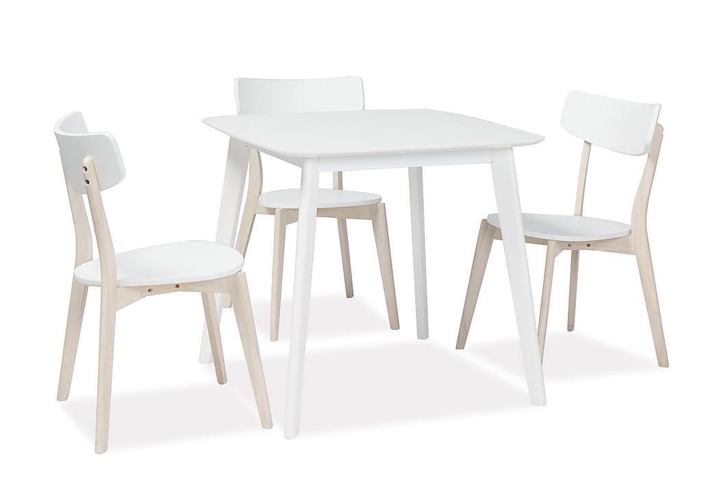 Nurran Spisebord 80 cm - Hvid - Møbler - Borde - Spisebord og køkkenbord