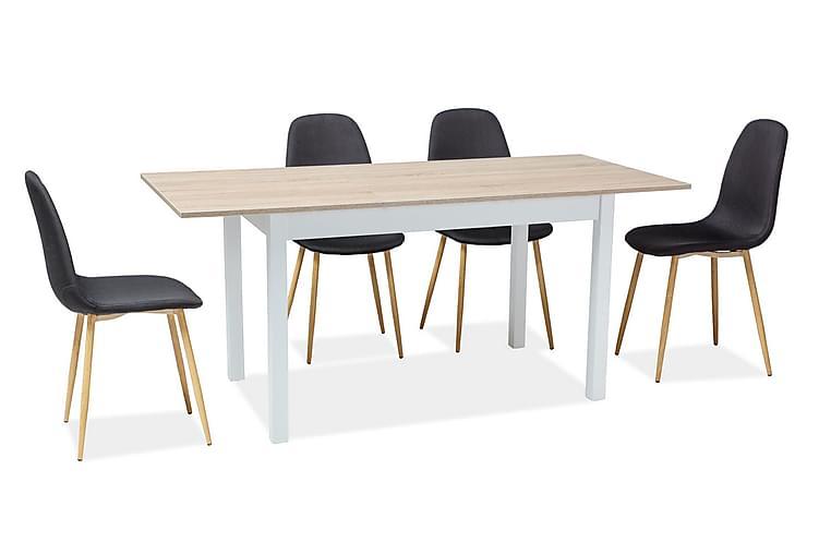 Oracy Udvideligt Spisebord 125 cm - Natur - Møbler - Borde - Spisebord og køkkenbord