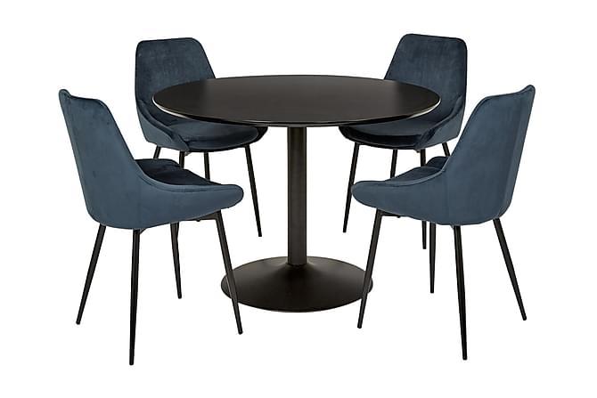 Oslo Spisebord 110 Rund - Sort - Møbler - Borde - Spisebord og køkkenbord