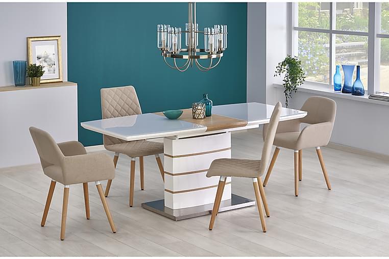 Riera Udvideligt Spisebord 140 cm - Hvid/Eg - Møbler - Borde - Spisebord og køkkenbord