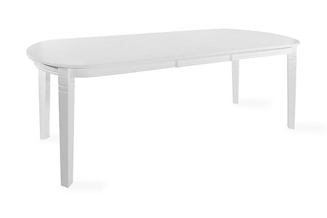 Sandhamn Udvideligt Spisebord 160 cm Oval - Hvid - Møbler - Borde - Spisebord og køkkenbord