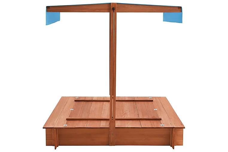 Sandkasse med Tag 122x120x123 cm Fyrretræ - Møbler - Borde - Spisebord og køkkenbord