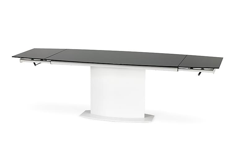Sirianni Udvideligt Spisebord 160 cm Glas - Hvid/Sort - Møbler - Borde - Spisebord og køkkenbord