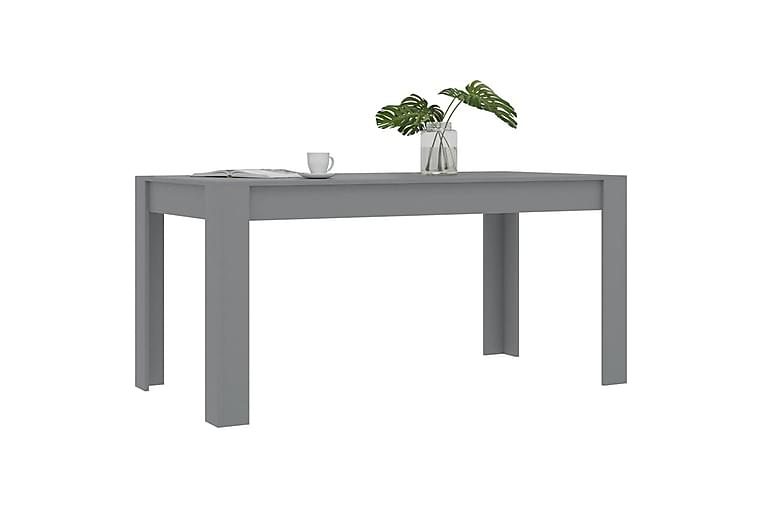 Spisebord 160x80x76 cm Spånplade Grå - Grå - Møbler - Borde - Spisebord og køkkenbord