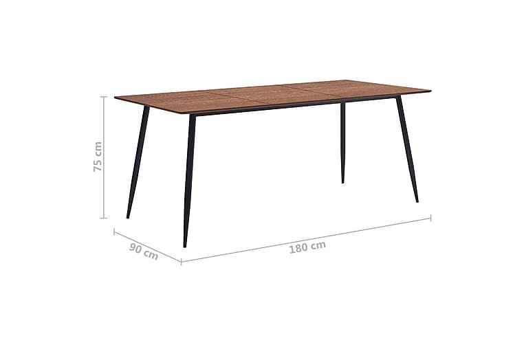 Spisebord 180 X 90 X 75 Cm Mdf Brun - Brun - Møbler - Borde - Spisebord og køkkenbord