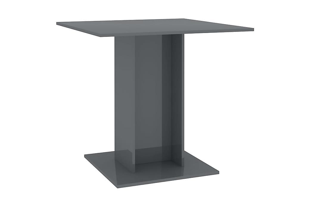spisebord 80 x 80 x 75 cm spånplade grå højglans - Møbler - Borde - Spisebord og køkkenbord