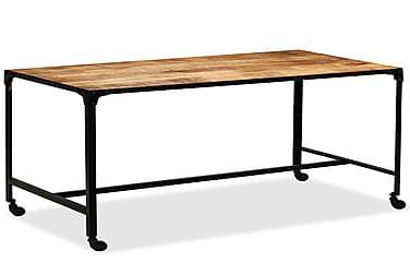 Spisebord I Massivt Mangotræ Og Stål 120 X 60 X 76 Cm