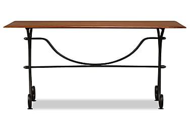 Spisebord I Massivt Træ Med Sheesham-Finish 110 X 60 X 77 Cm