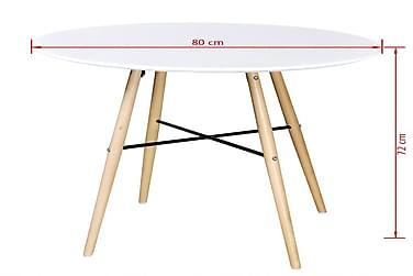 Spisebord Mdf Rundt Hvid