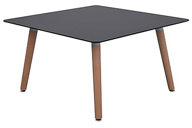 Spisebord Og Stolesæt I Fem Dele I Sort