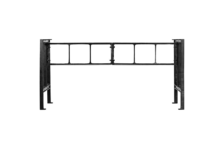 spisebordsben 150 x 68 x 73 cm støbejern - Sort - Møbler - Borde - Spisebord og køkkenbord