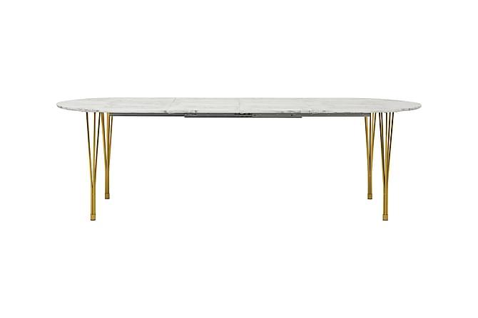 Tyson Udvideligt Spisebord 160 cm Oval - Marmor/Messing - Møbler - Borde - Spisebord og køkkenbord
