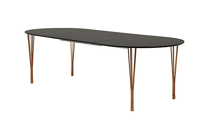 Tyson Udvideligt Spisebord 160 cm Oval - Sort/Kobber - Møbler - Borde - Spisebord og køkkenbord