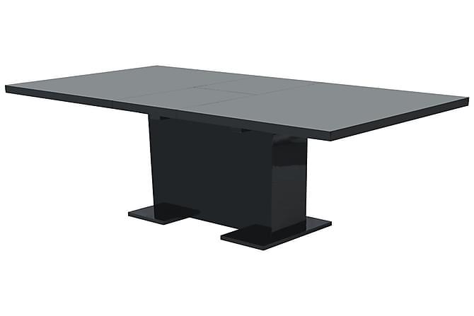 Udtræksspisebord Højglans Sort - Sort - Møbler - Borde - Spisebord og køkkenbord