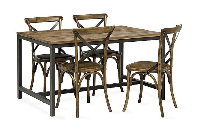 Vera Spisebord 140 cm - Træ/Sort - Møbler - Borde - Spisebord og køkkenbord
