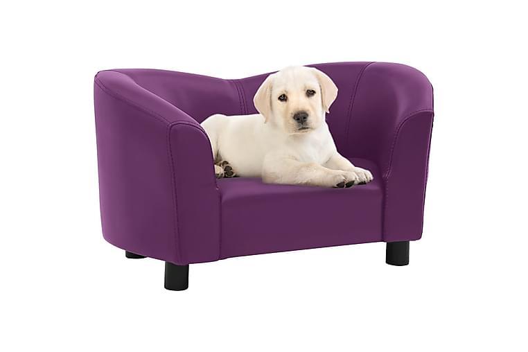 hundesofa 67x41x39 cm kunstlæder bordeauxfarvet - Violet - Møbler - Kæledyrsmøbler - Hundemøbler