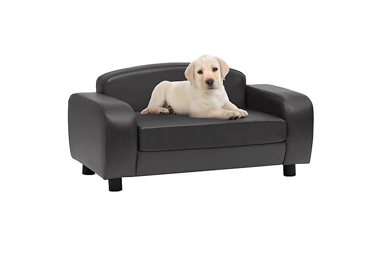 hundesofa 80x50x40 cm kunstlæder mørkegrå - Grå - Møbler - Kæledyrsmøbler - Hundemøbler