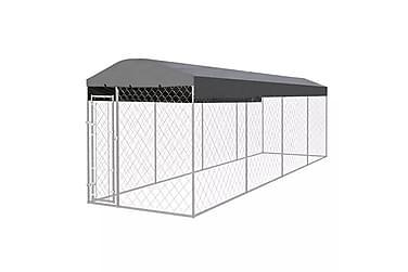 Udendørs Hundebur Med Tag 8 X 2 M