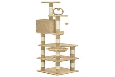 Kattetræ Med Sisalkradsestolper 165 Cm Beige