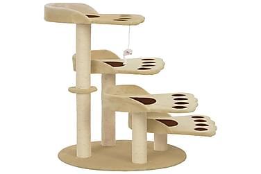 Kradsetræ Til Katte Med Sisalkradsestolper 90 Cm Beige