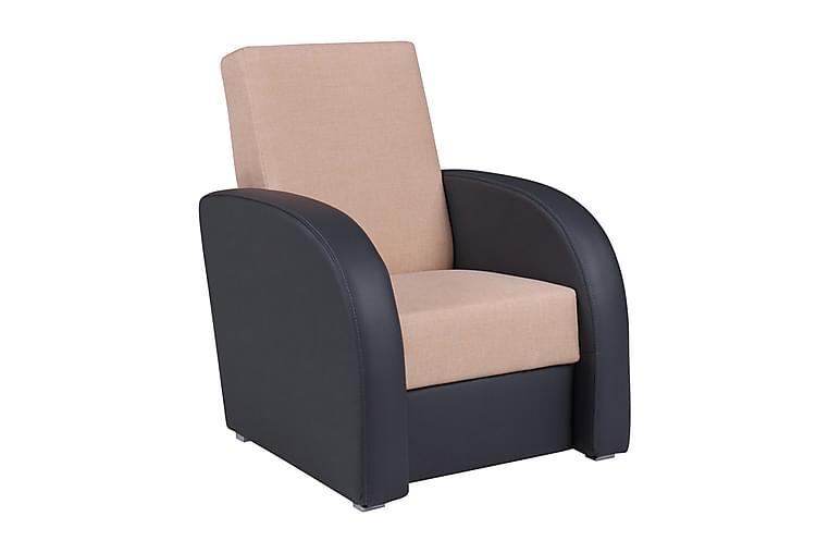 Firkantet lænestol 78x83x90 cm - Møbler - Lænestole & puffer - Læderstol