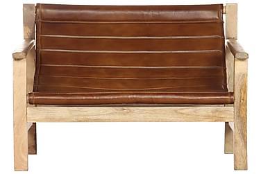 Lænestol Ægte Læder Brun