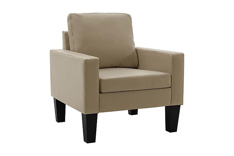 Lænestol Kunstlæder Cappuccinofarvet - Møbler - Lænestole & puffer - Lænestole