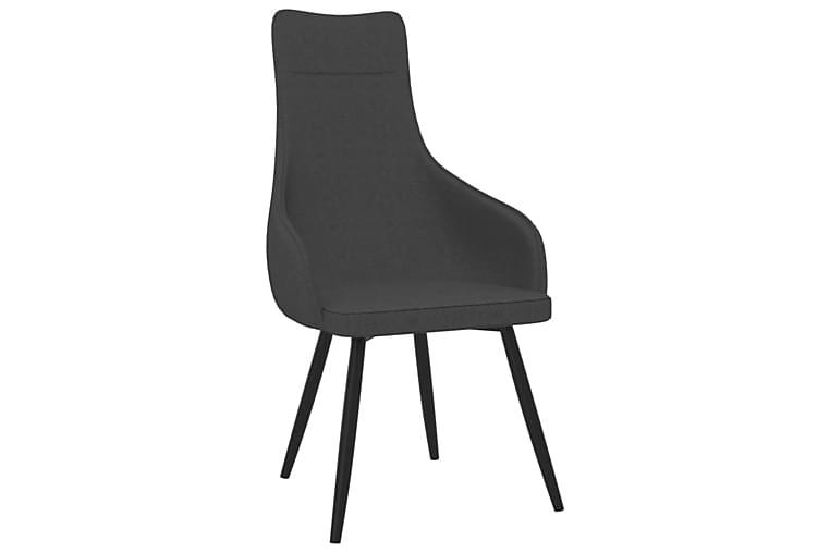 lænestol med fodskammel stof mørkegrå - Grå - Møbler - Lænestole & puffer - Lænestole