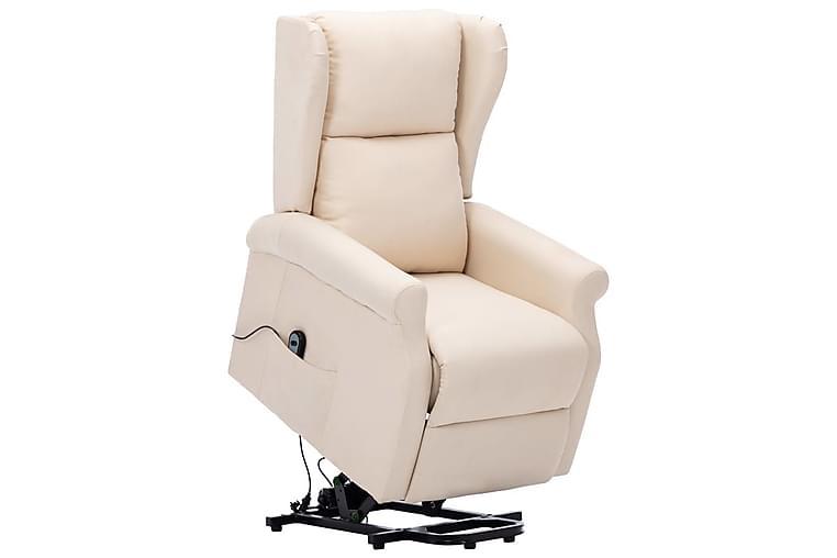 Lænestol Med Løftefunktion Stof Cremefarvet - Møbler - Lænestole & puffer - Lænestole