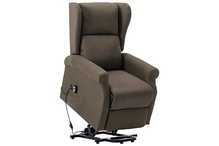 Lænestol Med Løftefunktion Stof Gråbrun - Møbler - Lænestole & puffer - Lænestole