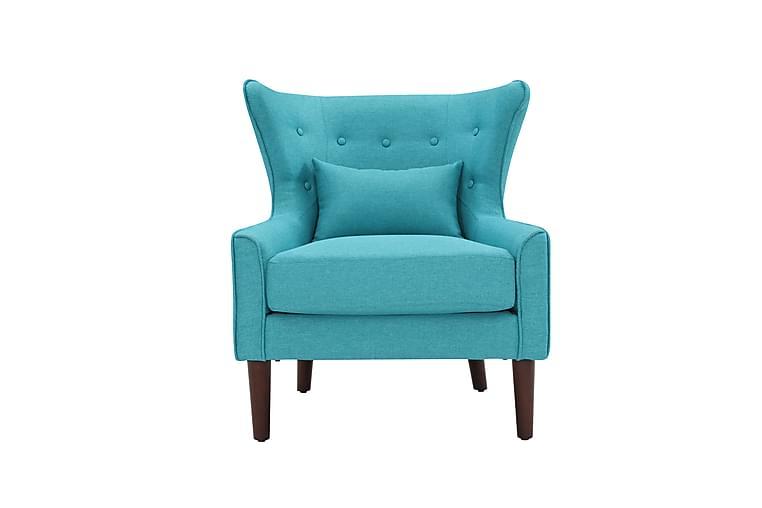 Lænestol Turkis stof - Turkis - Møbler - Lænestole & puffer - Lænestole