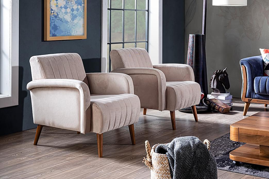 Mola Lænestol - Cremehvid/Træben - Møbler - Lænestole & puffer - Lænestole