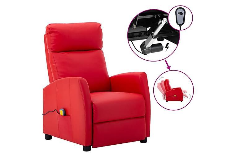 eldrevet massagestol kunstlæder rød - Rød - Møbler - Lænestole & puffer - Massagestol