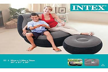 Intex Oppustelig Stol Med Puf Ultra Lounge Relax 68564Np