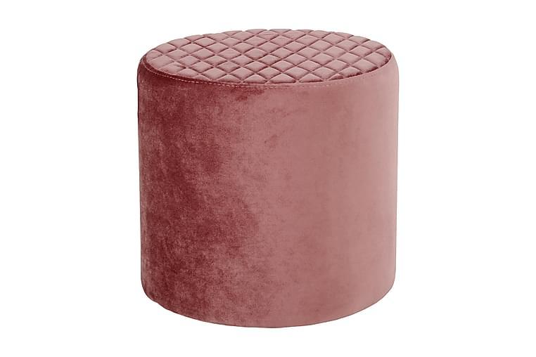 Talco Puf Rund - Pink / Velour - Møbler - Lænestole & puffer - Ottoman