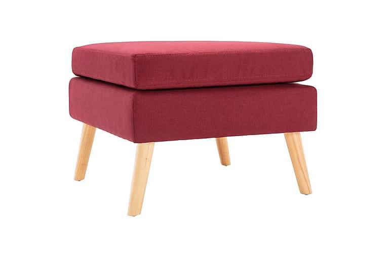 Fodskammel Stof Vinrød - Møbler - Lænestole & puffer - Puf