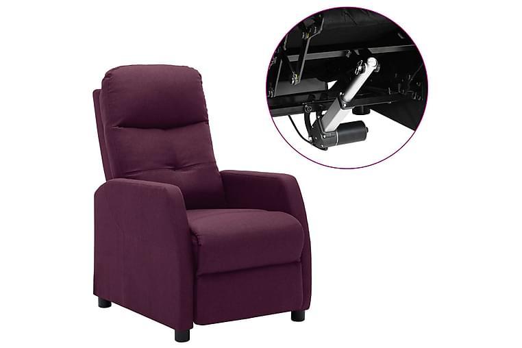 eldrevet lænestol stof lilla - Violet - Møbler - Lænestole & puffer - Recliner lænestol